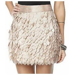 Kardashian Kollection Peach Petal Skirt L